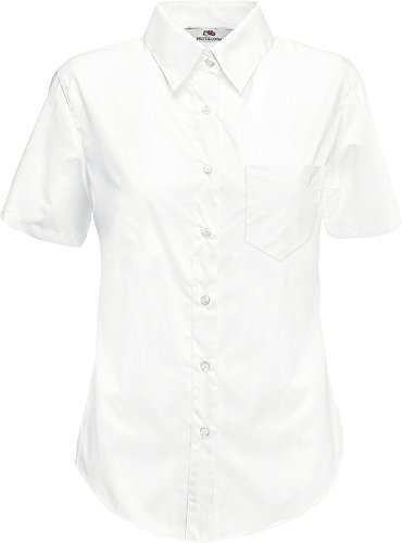 Fruit of the Loom Damen Hemd Popelin Shirt Lady-Fit Rot - Rot