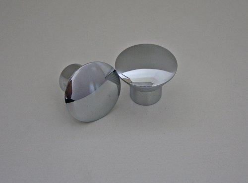 Möbelknopf Möbelgriff Schubladenknopf Knopf Chrom glänzend ø 30mm Gesamthöhe 24mm (Glänzende Möbelknöpfe)