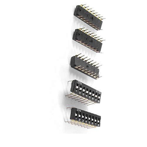 Aexit 5 Pcs 8 Posiciones 16 Terminales pines Interruptores