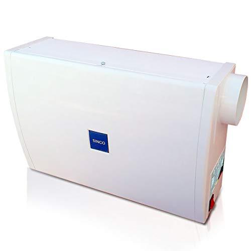 Sistema di ventilazione forzata per abitazioni, apparecchio fornito con accessori