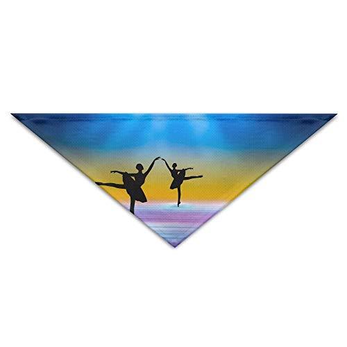 dfegyfr Sunset-Ballet Dance Triangle Pet Scarf Dog Bandana Pet Collars for Dog Cat - ()