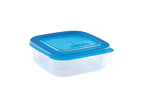Heidrun S 1823S Behälter Kühlbox Micro, quadratisch, 0.6Liter, transparent/blau