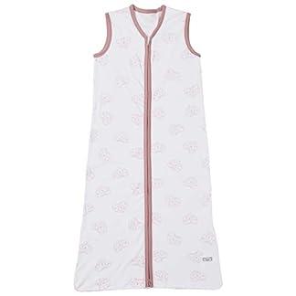 Meyco 510023Verano Saco de dormir de 70cm, Geometric Heart/Geometría de corazón, color blanco y rosa