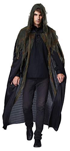 B-Creative Mens #Grim Black Reaper Kapuzen Cape Death Horror Halloween ausgefallene Kleid