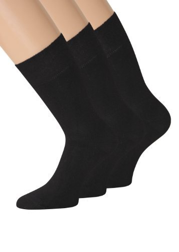 Bambus Socken Herren Bambus Socken ohne gummi schwarz 43-46 39-42 47-50 ANTIBAKTERIELL 6 Paar (43-46) (Bambus Herren-socken)