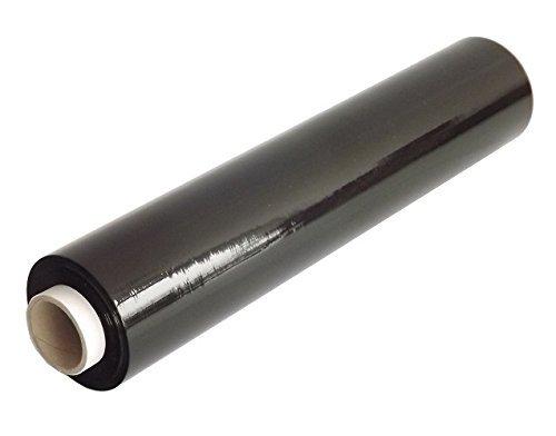 Preisvergleich Produktbild Stretchfolie 500 mm x 300 m opak schwarz 23 my