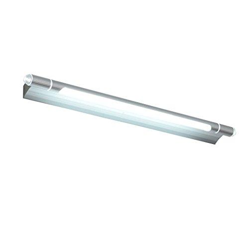 YRE LED Energiesparen Spiegelleuchte Bad Badezimmer Spiegel leuchten Wand Leuchte Make-up-Lampen einfach wasserdicht Beschlagfrei feuchtigkeitsspendende Rechteck Spiegelschrank dedizierte Beleuchtung (Farbe: Silber - #53 cm 7 W)