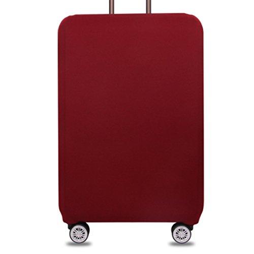 Bestja Elastisch und Einfarbig Kofferhülle Koffer Abdeckung Schutzhülle Kofferschutzhülle Kofferbezug Luggage Gepäck Cover mit Band und Klettverschluss (Weinrot, XL (29-32 Zoll))