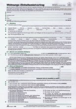 RNK 523 Kaufverträge und Mietverträge Mietvertrag Universal A4
