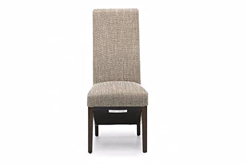 Baxter Dining Chair Dark Legs - Tweed