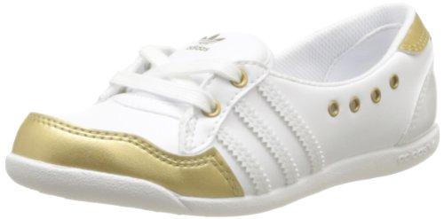 adidas Originals Forum Slipper K-3 D67273, Unisex - Kinder Sneaker, Weiß (RUNNING WHITE FTW/RUNNING WHITE FTW/GOLD FOIL), EU 28 (Schuhe Adidas Forum)