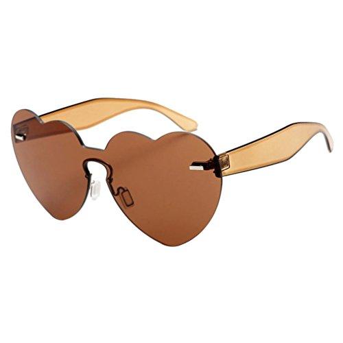 Unisex Sonnenbrillen Hffan Damen Mode Integriertes UV Sonnenbrille Herzförmige Shades Rahmen...