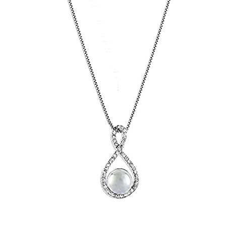 Pendant Infinity For Women By Fashionvictime - Silver-Plated-Rhodium Jewel -