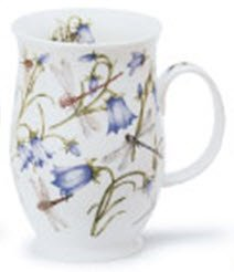 1 x Jane Fern Harebell and Dragonfly design from Dovedale range - Dunoon Suffolk Fine Bone China mug -