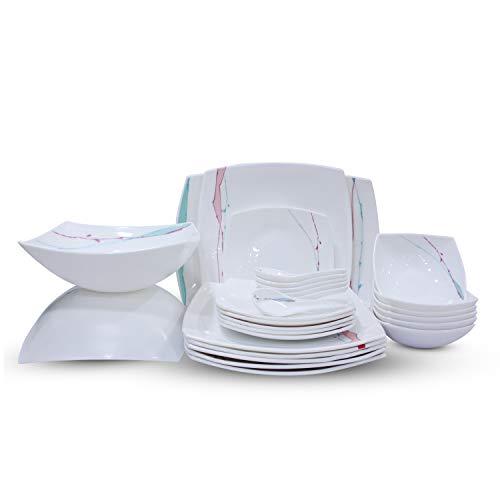 Soogo Opalware Dinner Set, 27-Pieces, Multicolour