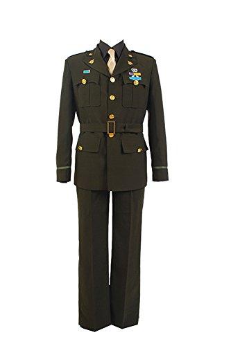 Fuman Captain America Steve Rogers Uniform Cosplay Kostüm (Kostüm Steve Rogers)