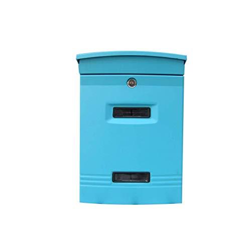 Eeayyygch Briefkasten für den Außenbereich, Wandmontage, Retro-Stil, Zeitungsbox, Vorderplatte,...