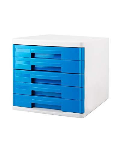 Ordner-Ablagesysteme HongLianRiven Office Desktop Schubladentyp Schreibwarenschrank 5. Stock Aktenschränke A4 Kunststoff-Datenschrank Aufbewahrungsbox Aufbewahrungsordner