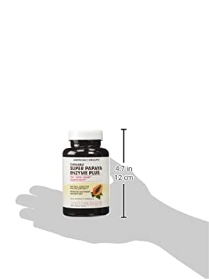 American Health, Chewable Super Papaya Enzyme Plus, 180 Tablets