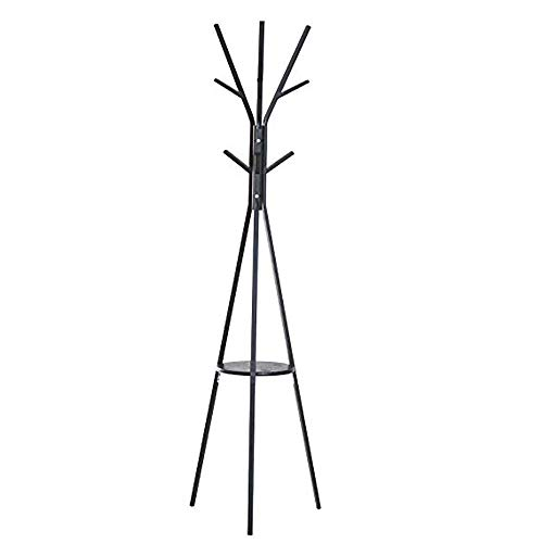 LUYION Frei stehend Modern Hut-Kleiderständer 9 Haken Baum Metallregal Home Holder Display,Black