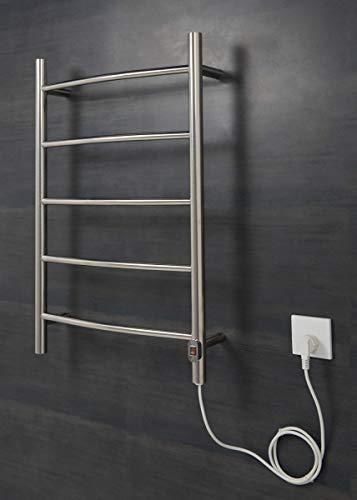 Wärmehaus Elektrischer Handtuchheizkörper, Badheizkörper 800x500 Chrom gebogen