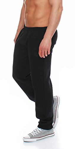 Sporthose Trainingshose Jogginghose Pants Sweatpants,schwarz,Large ()