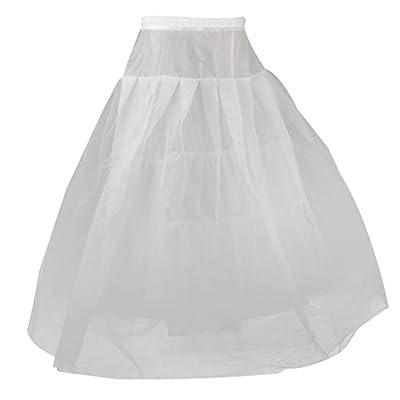 Generic Women's Nylon 4 Layer Tulle Wedding Ball Gown Crinoline Petticoat (White_Free Size)