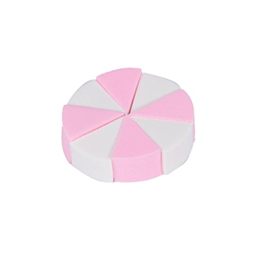 La Houpe A Poudre ,OVERMAL Maquillage Fondation 8PCS Beauty Cosmetic Visage Facial Sponge Powder Puff