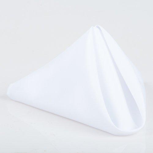 Richland® Lot de 12 Serviettes Blanches de Table en Carré de 50 cm
