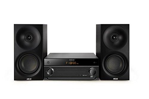 AKAI - AM -301K - Micro Chaine - Tuner FM Digital Stéréo - Bluetooth - MP3 - CD - 40 W Noir