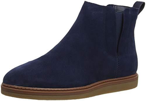 Clarks Damen Dove Madeline Chelsea Boots, Blau (Navy Suede), 39.5 EU