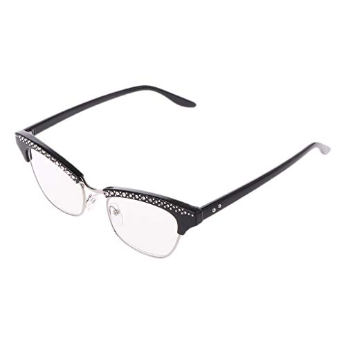 Hothap Mode Frauen Cat Eye Lesebrille Kristall Strass Dekoration Presbyopie Brillen Brillen 1,0 bis 3,5