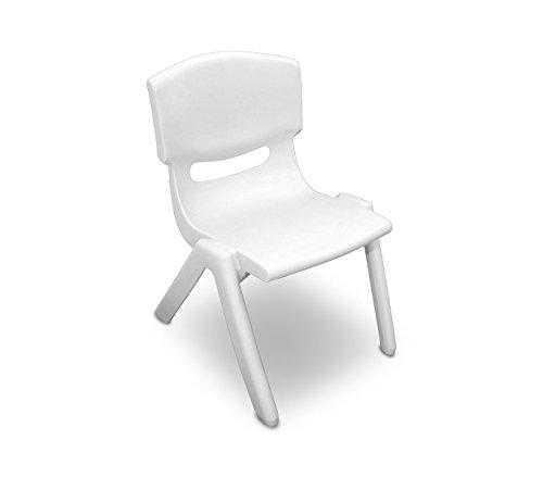 173710 sedia colorata per bambini in plastica resistente 26 x 30 x 55 cm. media wave store (bianco)