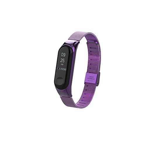 a3741d3637b37 VANLUCKY Acero Inoxidable Pulsera de la sustitución del Metal für Xiaomi Mi  Band 3 Smart Armband