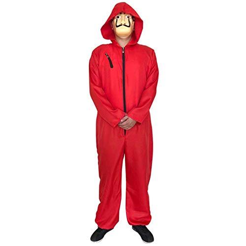 Tasche Kostüm Biohazard - Holy Day Kostüm Banknote House Dali Kostüm Red One Piece Clown Kostüm Cosplay (Color : Red, Size : S)
