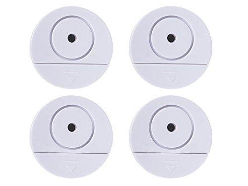 4er-Set Glasbruchalarm für Fenster und Türen, Vibrationsalarm, Ø NUR 6 cm Einruchschutz