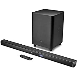 JBL JBLBAR31BLKEP BAR3.1 - Barre de Son 3.1 Canaux Ultra HD 4K avec Caisson de Basses sans Fil Noir
