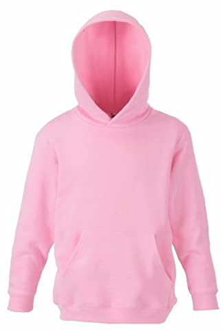 Fruit of the Loom Kids Kapuzen Sweatshirt 62-043-0 140 (9-11),Light Pink
