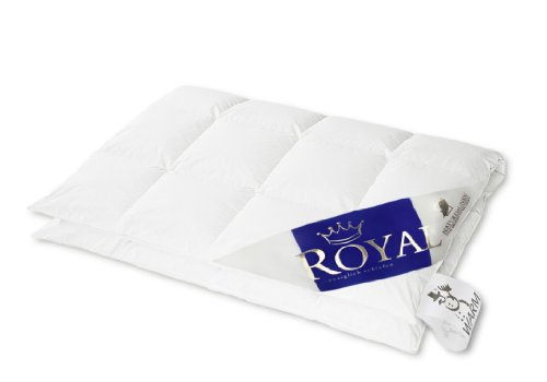 Hanskruchen 975.50.066 Royal, Luxus Daunendecke, Warm, 200 x 220 cm, 100% Gänseflaum, 1370 g