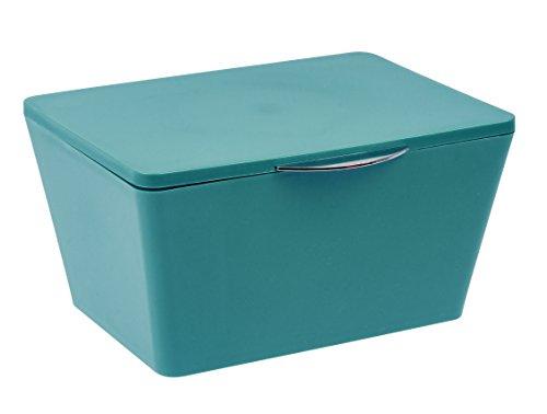 Wenko 22601100 Aufbewahrungsbox mit Deckel Brasil Aufbewahrungskorb, Badkorb mit Deckel, 15,5cm x...