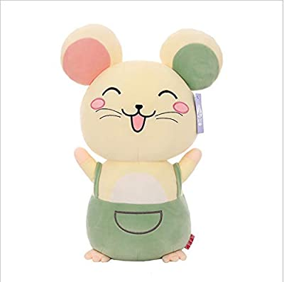 WHKJ Cute Smile Mouse Felpa Juguete Mascota muñeca niño Dormir aplacar muñeca sofá Almohada Suave cojín decoración del hogar Adornos niño niña 60 cm de WHKJ