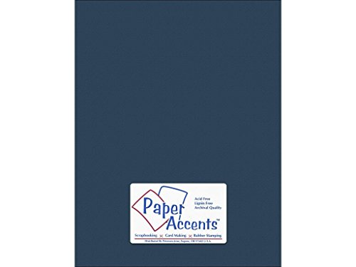 Paper Accents Cardstock (Accent Design Paper Accents StashBuilder MidnghtBlu CDSTK Stash Builder 8,5 x 11 65# Textrd Midnight Blue)