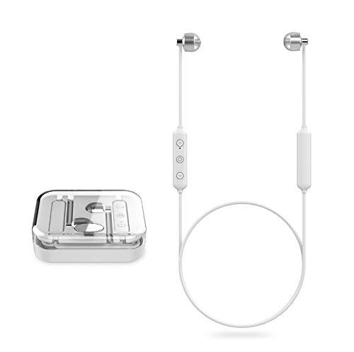Hals Ohrenklappen (A6 Wireless Sport Bluetooth Headset Bluetooth 5.0 Hängen Laufen Doppel Ohrhörer Hängen Hals Speicherkabel Rot)