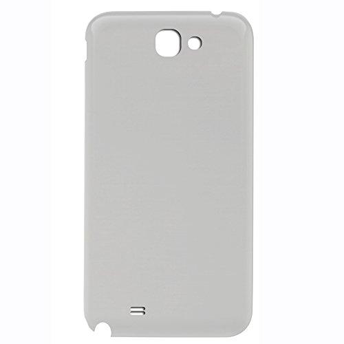 UU FIX Batterie Couvercle Rechange pour Samsung Galaxy Note 2 N7100 (Blanc) Téléphone Cache Arrière Cover de Remplacement avec Kit D'outils.