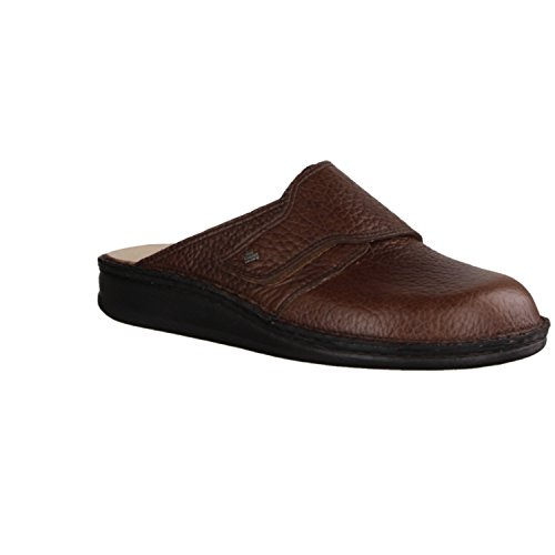 Finn Comfort Mens Amalfi Leather Sandals Marrone (Malt)