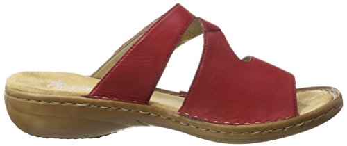 Rieker 60883, Mules Femme Rouge (Rosso / 33)