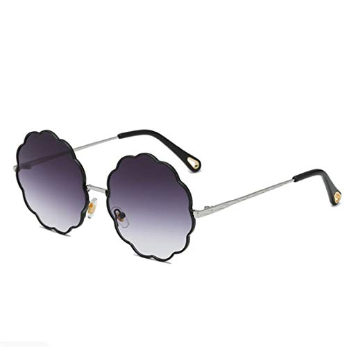 Shiduoli Sonnenbrillen für Männer Damenmode Blume geformt klare Linse Sonnenbrille (Color : B)