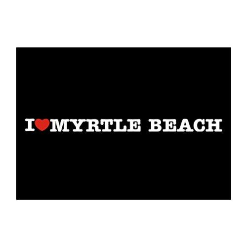 Teeburon I love Myrtle Beach Aufkleber Packung x4