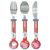 OFFIZIELLE PEPPA PIG Besteck !! Komplett mit Edelstahl-Messer, Gabel und Löffel preisvergleich bei kinderzimmerdekopreise.eu