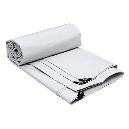 DinRoll Shed Tuch, Sonnenschirme, Überdachungen, Sonnenschutz-Plane, für den Außenbereich, Kunststofftuch, Sonnenschutzplane, Verdickung (Farbe: Weiß, Größe: 7 x 5 m)